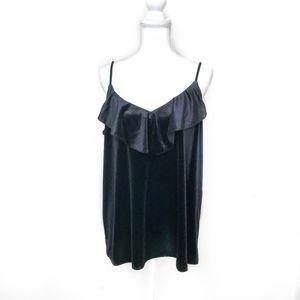 NWT Festive Old Navy Black Velvet Camisole Sz XL